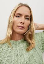 MANGO - Sweater handia - light pastel green