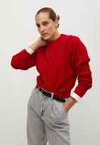 MANGO - Sweater overall - red