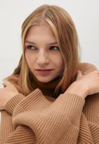 MANGO - Sweater palmer - medium brown