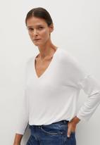 MANGO - T-shirt piceasy - white