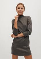 MANGO - Dress angelo - brown