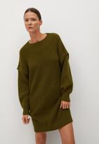MANGO - Dress regy - dark green