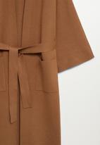 MANGO - Cardigan sol-a - medium brown