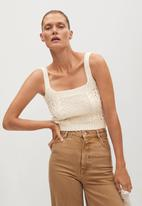 MANGO - Top selena - light beige