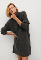 MANGO - Dress taldora - dark grey