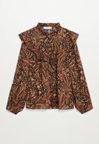 MANGO - Blouse oslo - brown
