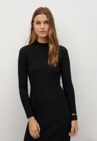 MANGO - Dress flurry - black