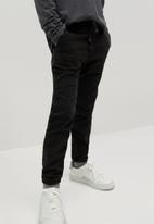 MANGO - Cord trousers - black