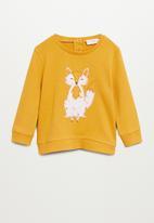 MANGO - Zaida sweatshirt - yellow