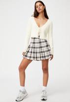 Factorie - Pleated skirt - jolie check neutral