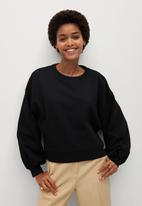 MANGO - Sweatshirt sarguita - black