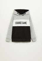 MANGO - Oregon sweatshirt - black & grey