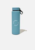 Typo - On the move metal drink bottle 500ml- blue