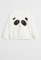 MANGO - Face sweatshirt - white