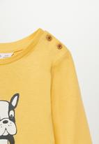 MANGO - Carlos short sleeve tee - yellow