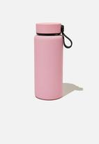 Typo - On the move metal drink bottle 350ml-plastic pink