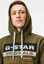 G-Star RAW - Color block originals logo hdd sw long sleeve - green