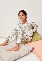 MANGO - Mariposa pyjamas - white