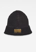 G-Star RAW - Rib beanie - black