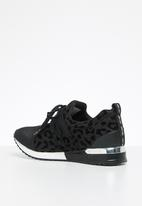 Sissy Boy - Creeper animal print sneaker  - black