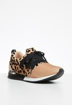 Sissy Boy - Creeper animal print sneaker  - rose gold & black