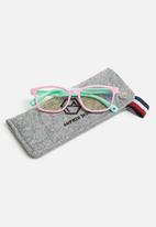 Sophie Moda - Girls anti blue light silicone frame glasses - pink & green