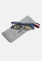 Sophie Moda - Boys anti blue light silicone frame glasses - blue