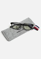 Sophie Moda - Anti blue light silicone frame glasses - black