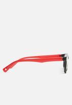 Sophie Moda - Anti blue light silicone frame glasses - black & red