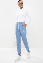 Sissy Boy - Athleisure track pants in knit - blue