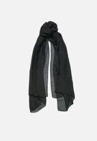 edit - Fringed infinity scarf-black
