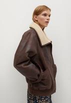 MANGO - Jacket atlanta - brown