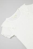 Superbalist Kids - Younger girls flounce sleeve top - cream