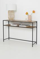 Sixth Floor - Seaford console - natural & black