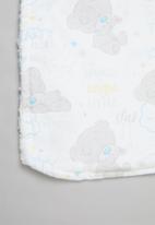 Character Group - Tiny tatty teddy sherpa throw - white & grey
