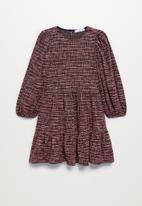 MANGO - Dress seven - dark red