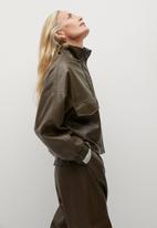 MANGO - Jacket wild - khaki