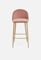 Sixth Floor - Slate kitchen stool - pink