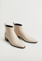 MANGO - Minute ankle boot - natural