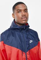 Nike - Nike sportswear woven jacket - red & navy