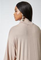 Superbalist - Turtle drop shoulder dress - neutral