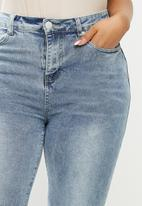 Glamorous - Curve nell super high waisted jeans - blue