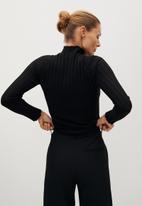 MANGO - Sweater flurry - black