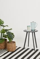 H&S - Round outdoor side table 40cm - black