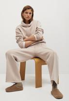 MANGO - Trousers neosoft - light/pastel brown