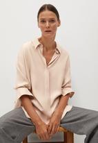 MANGO - Shirt neta - pink