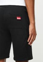 Aca Joe - Aca Joe unbrushed fleece shorts - black