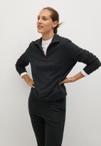 MANGO - Sweatshirt rivi-a - charcoal