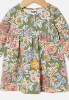 Cotton On - Molly long sleeve dress - silver sage/matilda floral