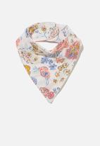 Cotton On - The bandana bib - crystal pink/matilda floral